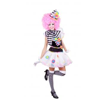 Clown jurkje zwart met wit