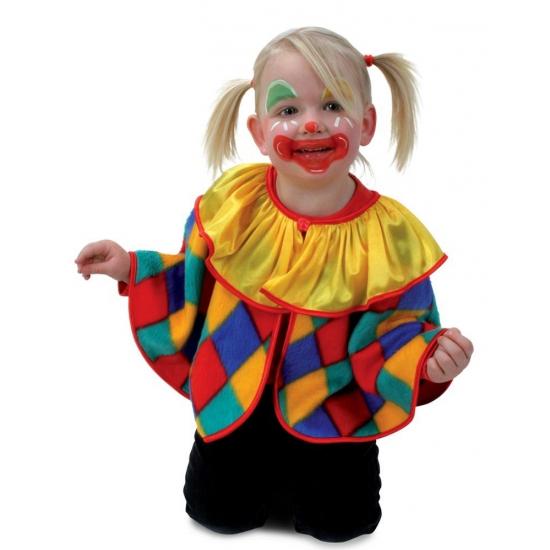 Clown verkleed poncho voor peuters