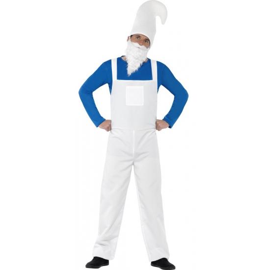 Compleet blauwe kabouter kostuum