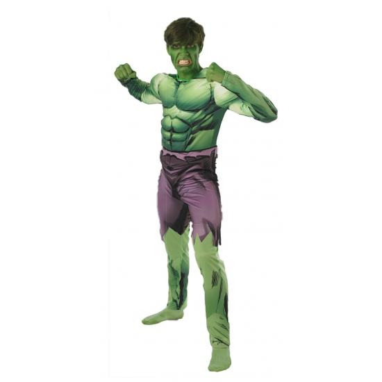 Compleet Hulk kostuum voor volwassenen
