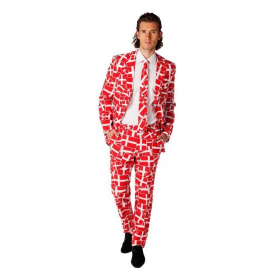 Compleet kostuum met Deense vlag