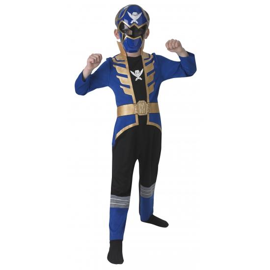 Compleet Power Ranger kostuum voor kinderen blauw