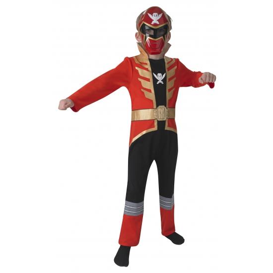 Compleet Power Ranger kostuum voor kinderen rood