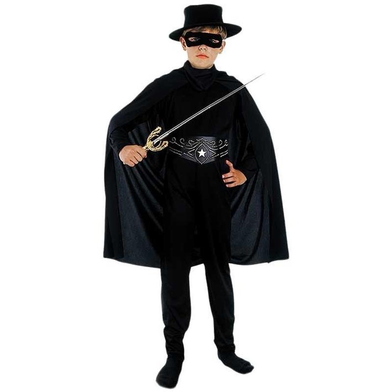Compleet Zorro kostuum voor kinderen