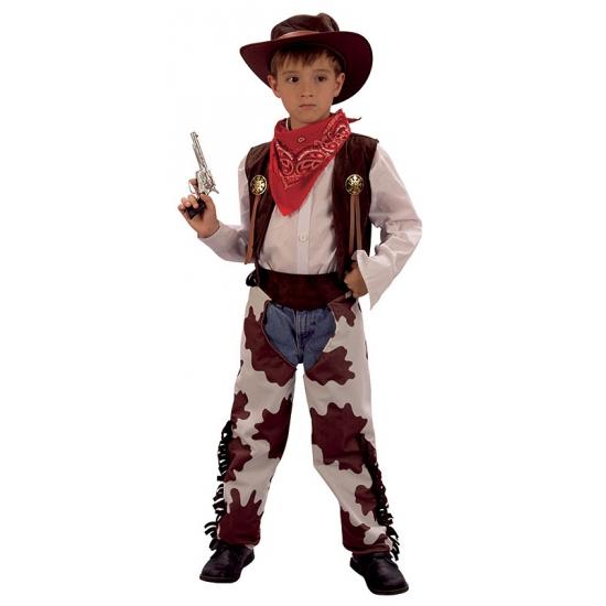 Cowboy koeienprint kostuum voor kinderen