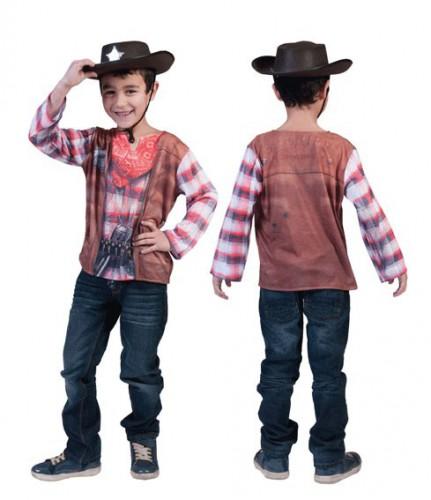 Cowboy shirt met 3D print voor kids