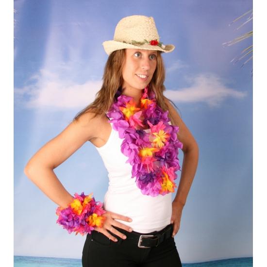 Crazy summer dames verkleed set maat XL