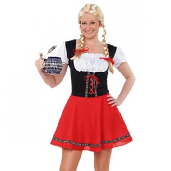 Dames jukje voor Oktoberfest rood zwart