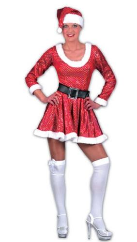Dames kerst jurk met muts