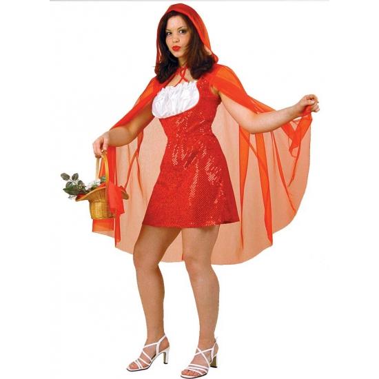 Dames verkleedjurkje roodkapje