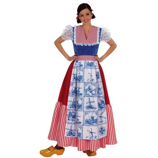 Delftsblauwe verkleedjurk voor vrouwen