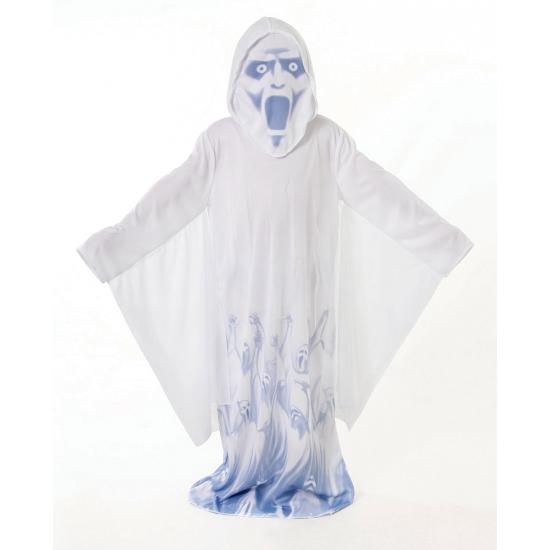 Demonen kostuum wit met blauw