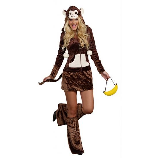 Dieren kostuum aap jurkje