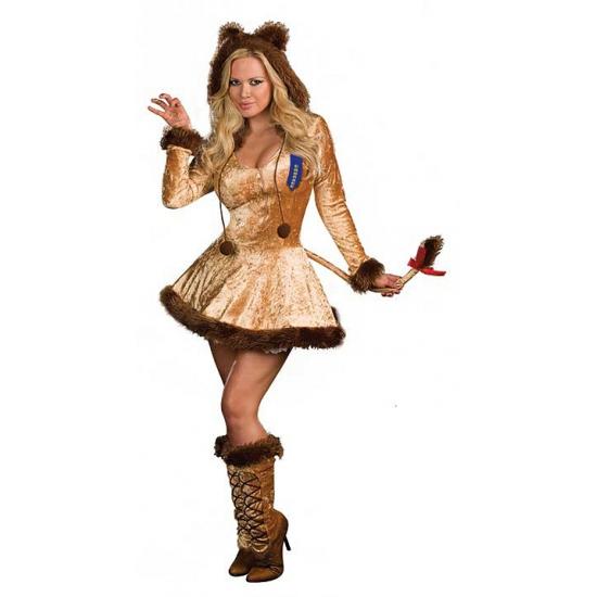 Dieren kostuum leeuwin jurkje