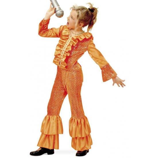 Disco kostuum voor meisjes oranje