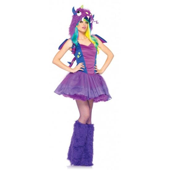 Draken jurkje paars blauw voor dames