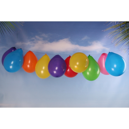 Feest ballonnen gekleurd 100x