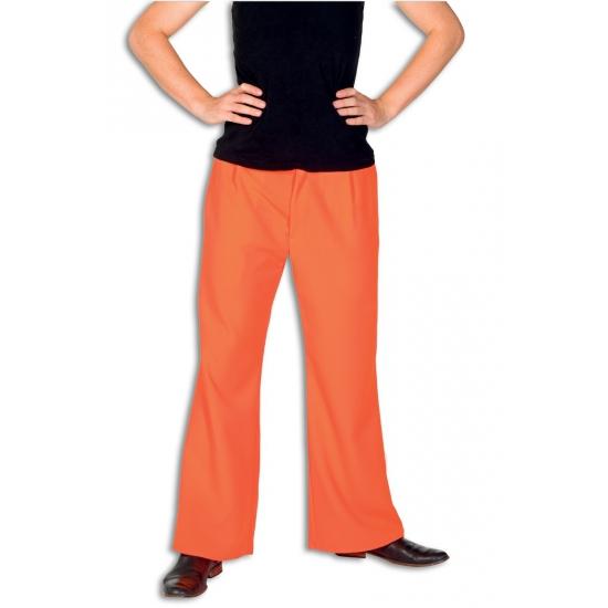 Fel oranje broek voor heren
