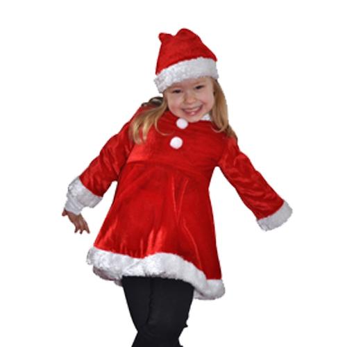 Fluwelen kerstjurk kinderen
