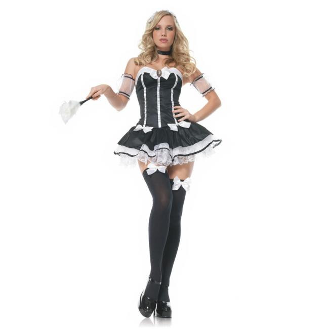 Frans dienstmeisje kostuum