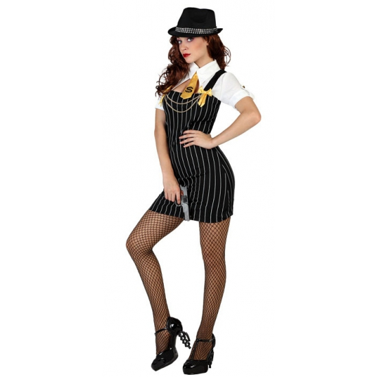 Gangster verkleedkleding voor dames