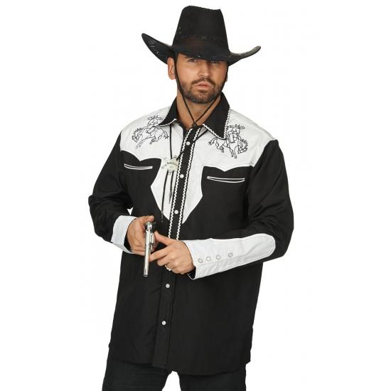Geborduurd Western overhemd voor heren