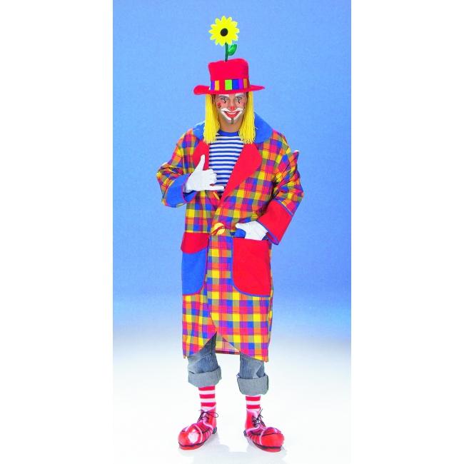Geruite clown jas voor volwassenen