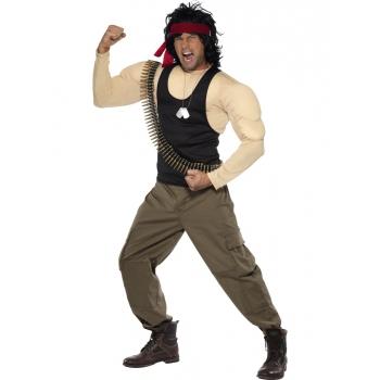Gespierd Rambo kostuum