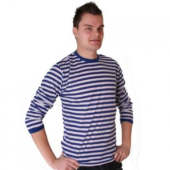 Gestreept verkleed t shirt blauw met wit voor heren