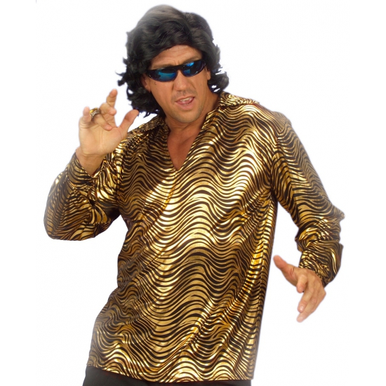 Glimmend overhemd goud voor heren