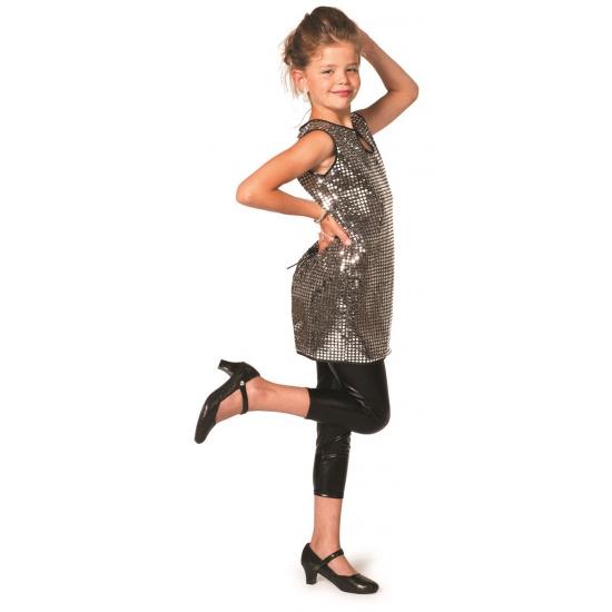 Glitter jurk zilver meisjes