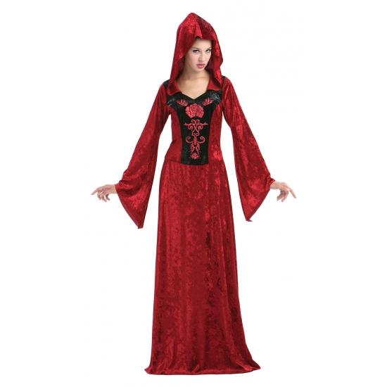 Gothic jurken Halloween rood