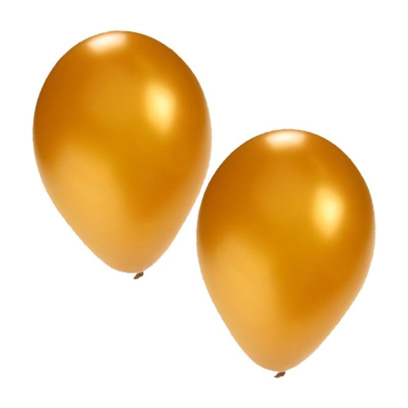 Gouden ballonnen 25 stuks