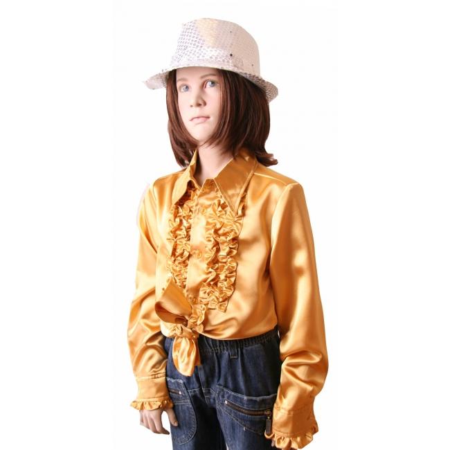 Gouden disco blouse voor meisjes