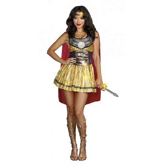 Gouden Romeinse krijger kostuum voor dames