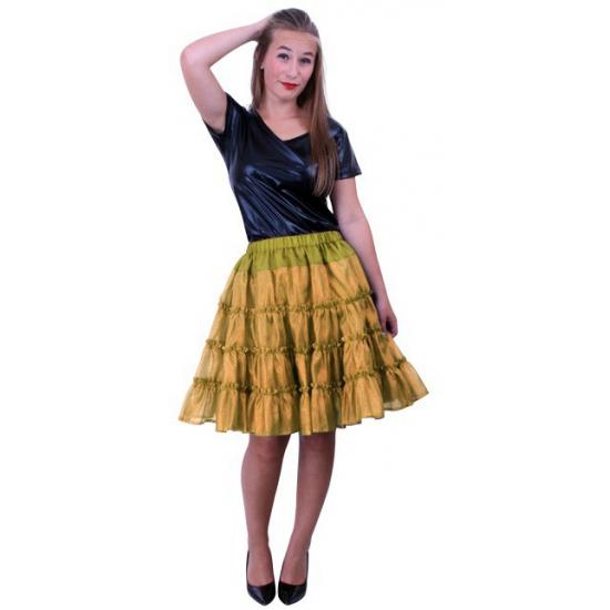 Gouden verkleed petticoat 5 laags