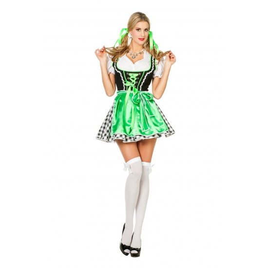 Groen bierfeest jurkje voor dames