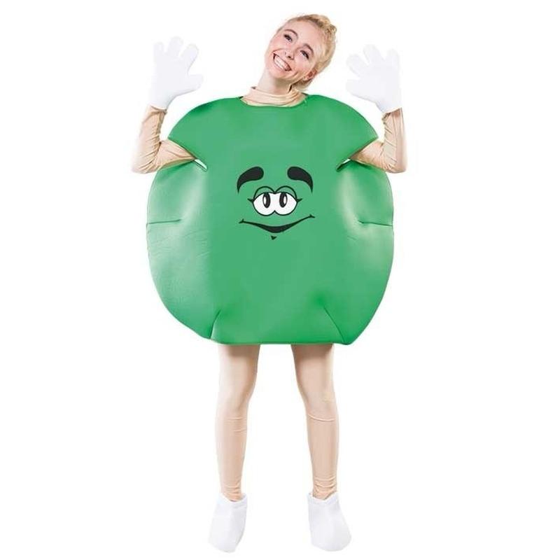 Groen M en M pak voor volwassenen