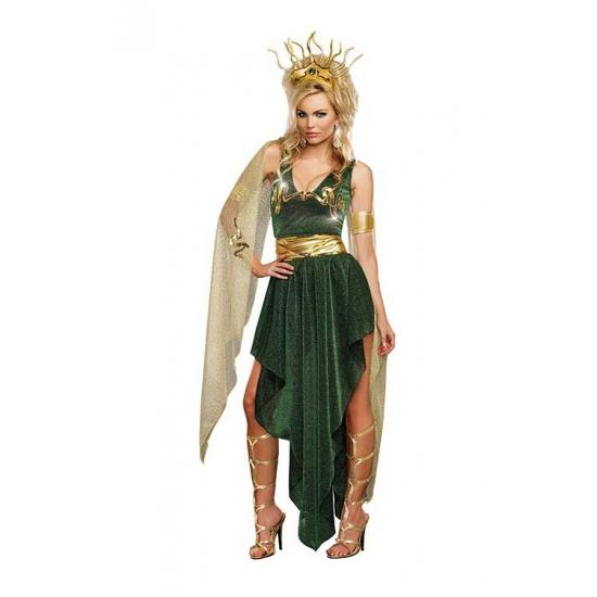 Groen medusa outfit dames