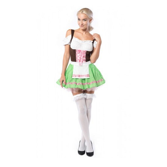 Groen met roze Oktoberfest jurkje