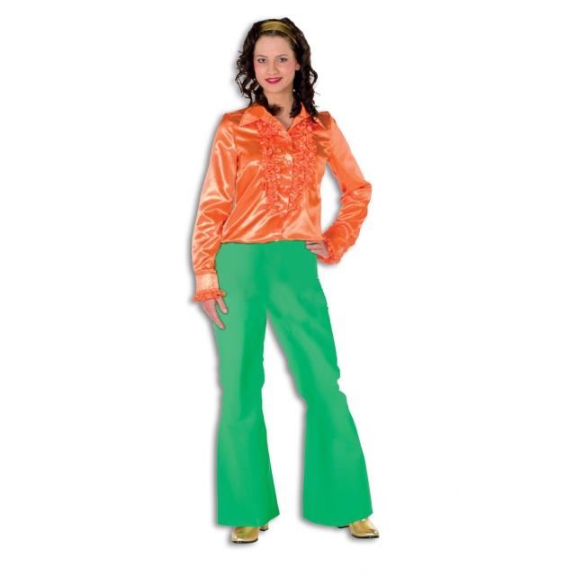 Groene lange verkleedbroek voor dames