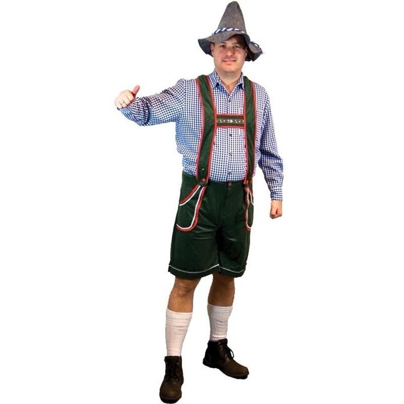 Groene Tirol lederhosen voor heren