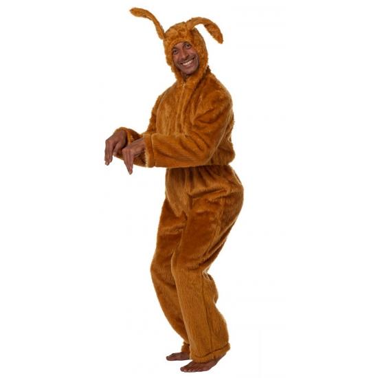 Haazen outfit bruin voor volwassenen