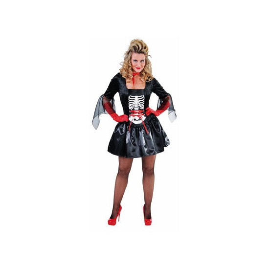 Halloween Dames skelet jurk
