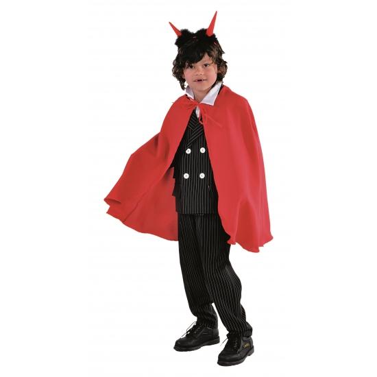 Halloween kinder kleding cape rood