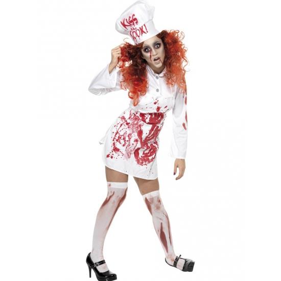Halloween koks kostuum met bloed