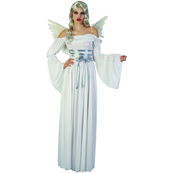 Halloween kostuum witte lange jurk