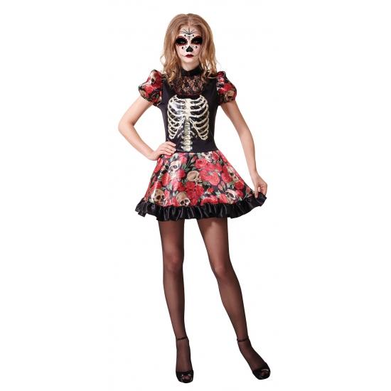 Halloween Mexicaans feestjurkje dag van de dood