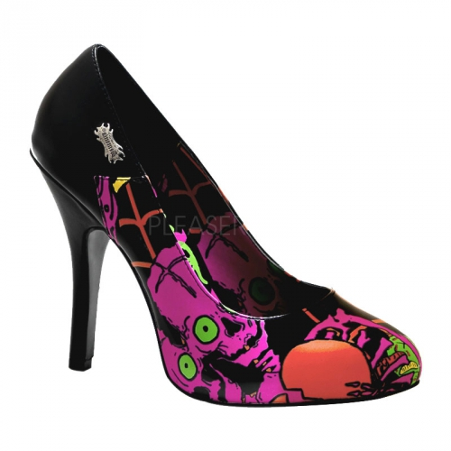 Halloween pumps met roze print