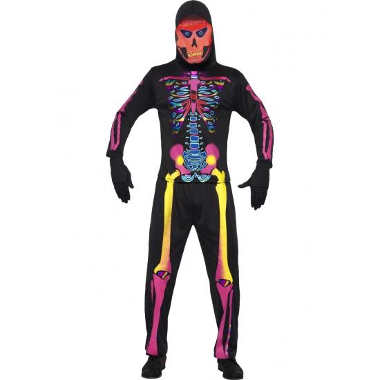 Halloween skelet pak voor heren